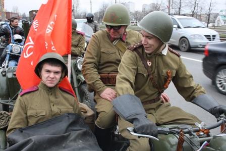 Провоз знамени Победы 9 мая